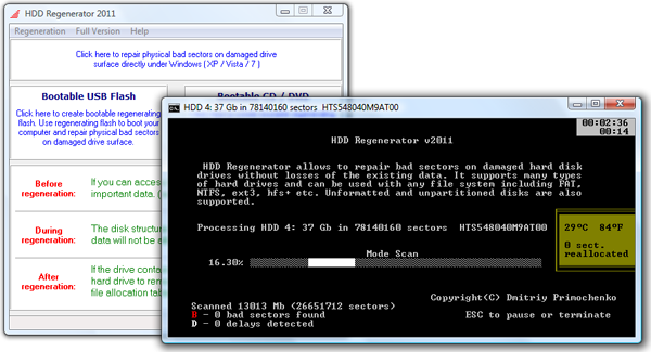 Click to view HDD Regenerator 2011 screenshot